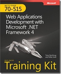 MCTS 70-515 Web Applications Development with Microsoft .Net Framework 4 Self-Paced training Kit Cover