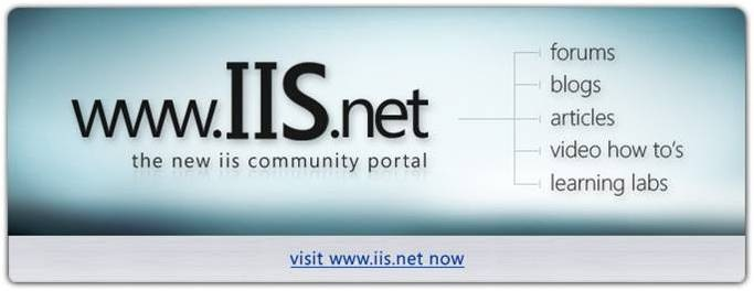 www.iis.net - the new IIS Community Portal